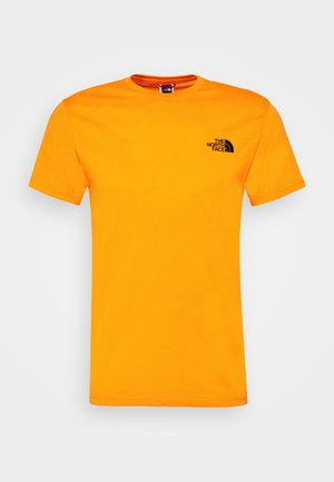MENS SIMPLE DOME TEE - Camiseta estampada - orange/black