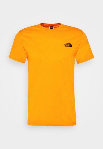 SIMPLE DOME TEE - Basic T-shirt - orange/black