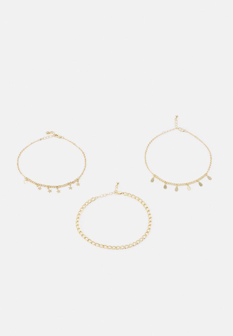 Pieces - PCJOLEEN ANKLET 3 PACK - Bracelet - gold-coloured