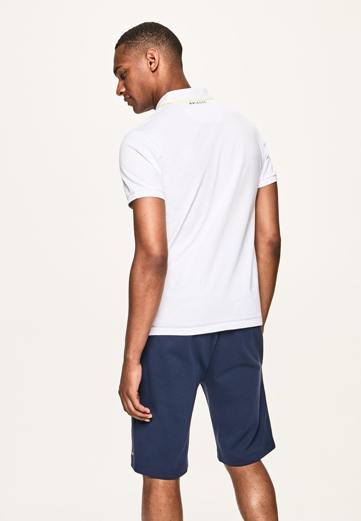 Hackett London Polo shirt - white/navy XMLL0