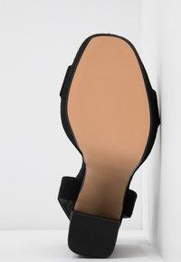 Topshop Wide Fit - WIDE FIT SABINE PLATFORM - High heeled sandals - black - 6