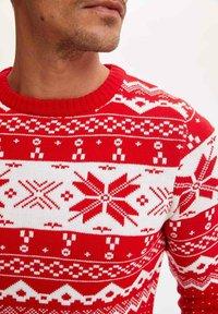 DeFacto - CHRISTMAS  - Stickad tröja - red - 2