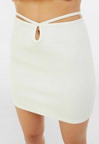 Bershka - Mini skirt - white - 3