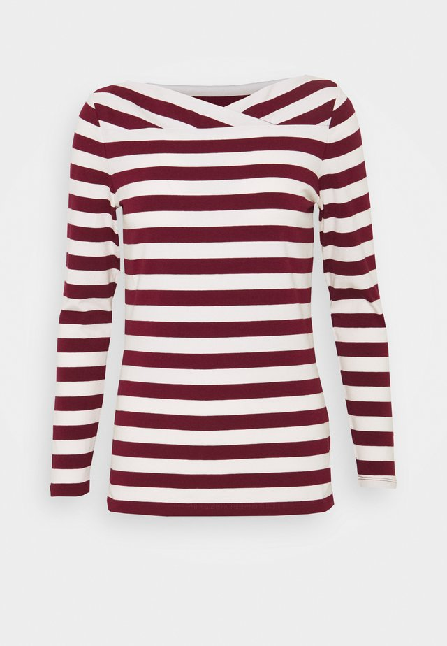 Long sleeved top - bordeaux red