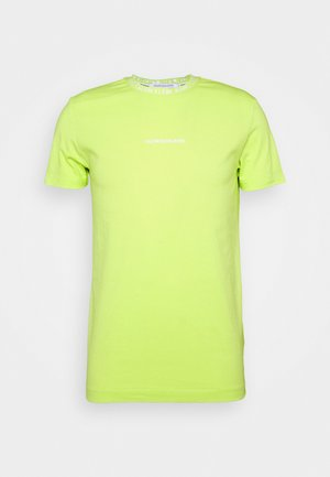 INSTITUTIONAL COLLAR LOGO - Print T-shirt - safety yellow