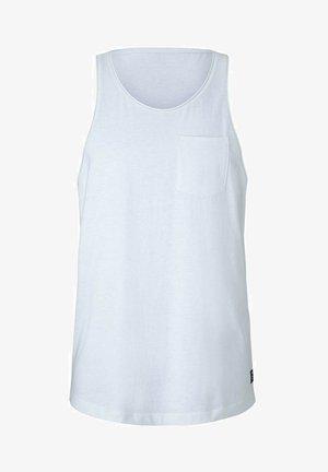 TANK  MIT BRUSTTASCHE - Top - mint white yd thin stripe