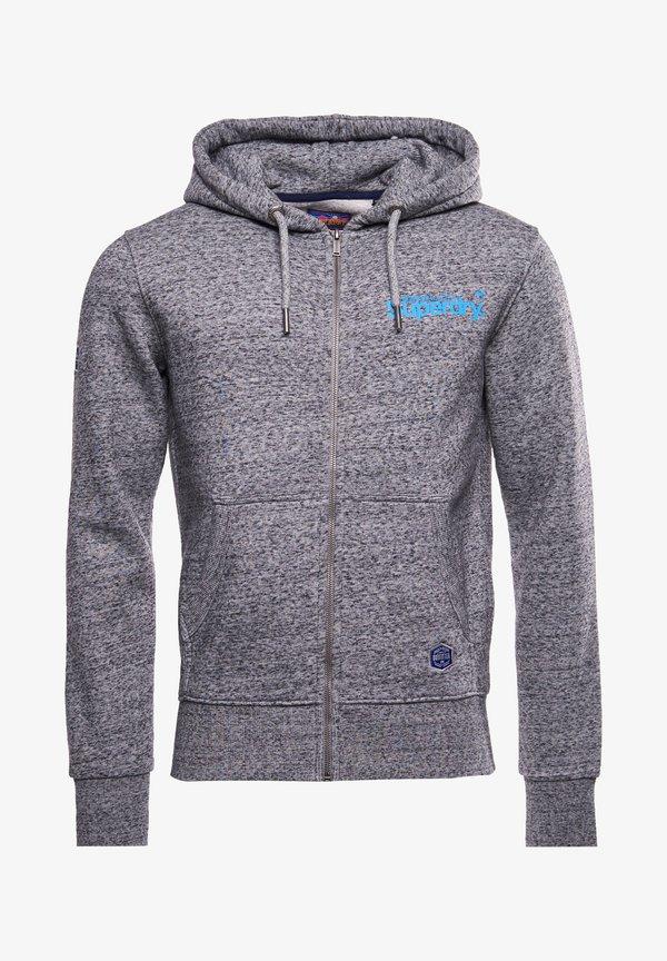 Superdry HERITAGE MOUNTAIN GRAPHIC - Bluza rozpinana - flint grey grit/szary Odzież Męska VHZU