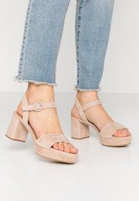 Unisa - NENES - Platform sandals - nude - 0
