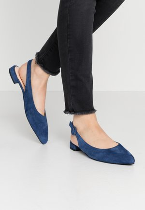 Slingback ballet pumps - blue