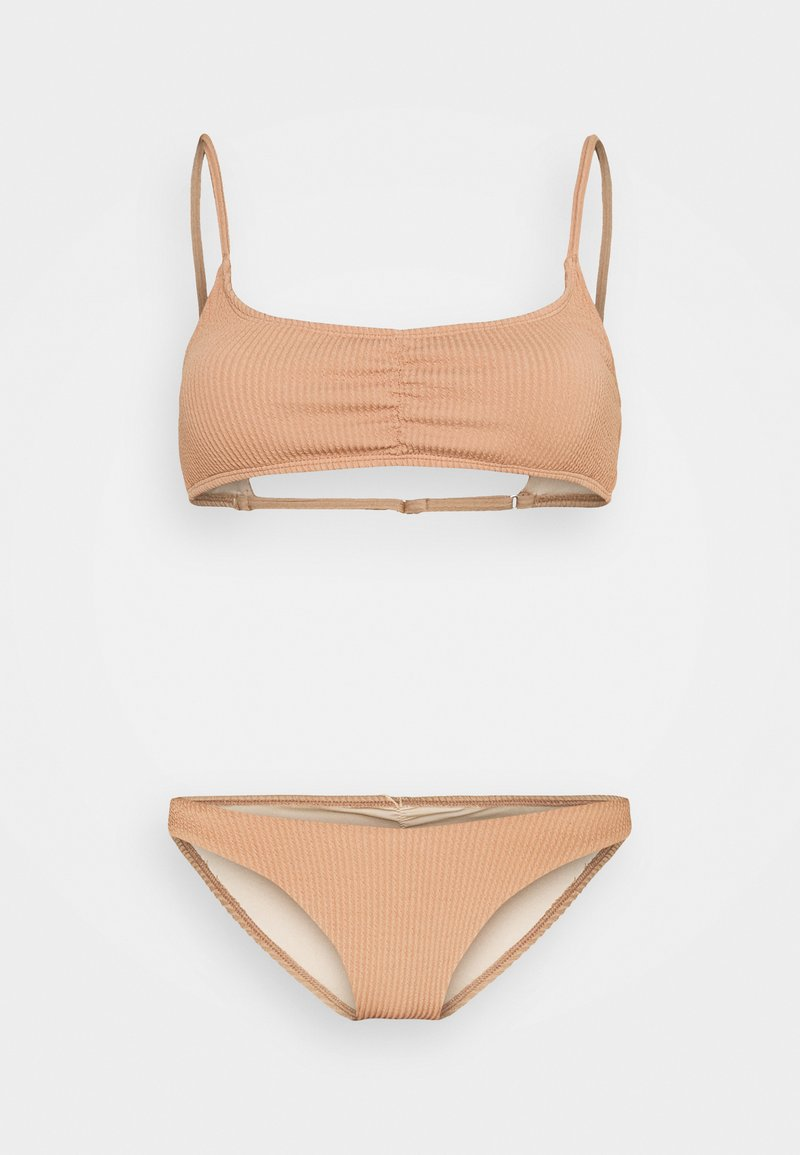Cotton On Body - GATHERED FRONT GATHERED BRAZILIAN - Bikini - lion brown crinkle