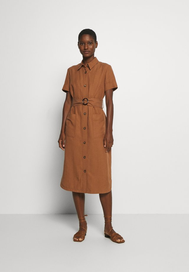 Shirt dress - light tobacco