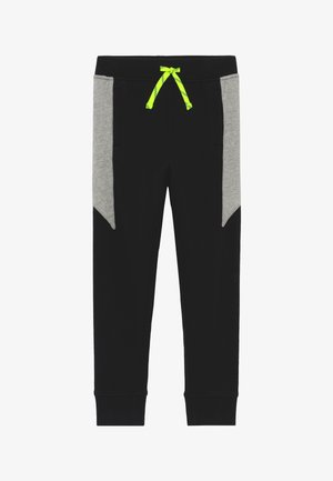 SIDE LIGHTNING BOLT - Tracksuit bottoms - black