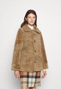 STUDIO ID - OLIVIA CONTRAST FRONT JACKET - Winter jacket - black/cream - 3