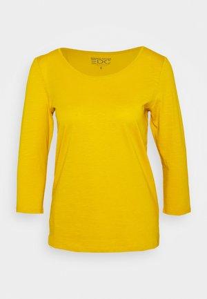Long sleeved top - brass yellow
