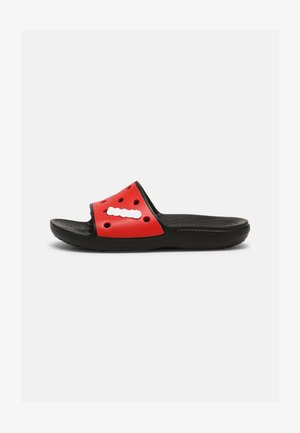 CLASSIC COLORBLOCK SLIDE UNISEX - Pool slides - black/red