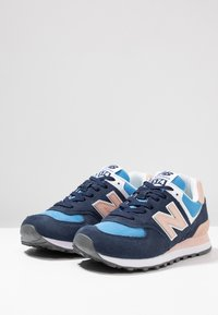 New Balance - WL574 - Sneaker low - navy/pink