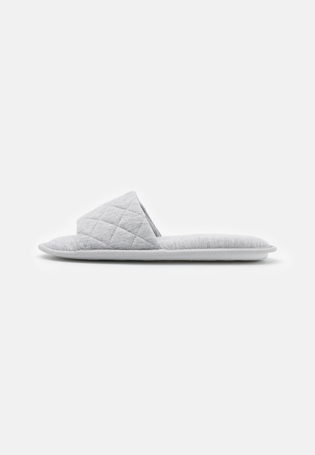 NILTED QUILTED SLIDER - Pantoffels - mid grey