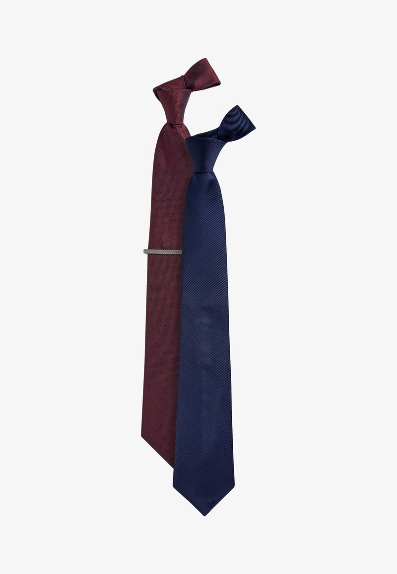 Next - TWO PACK WITH TIE CLIP - Tie - blue