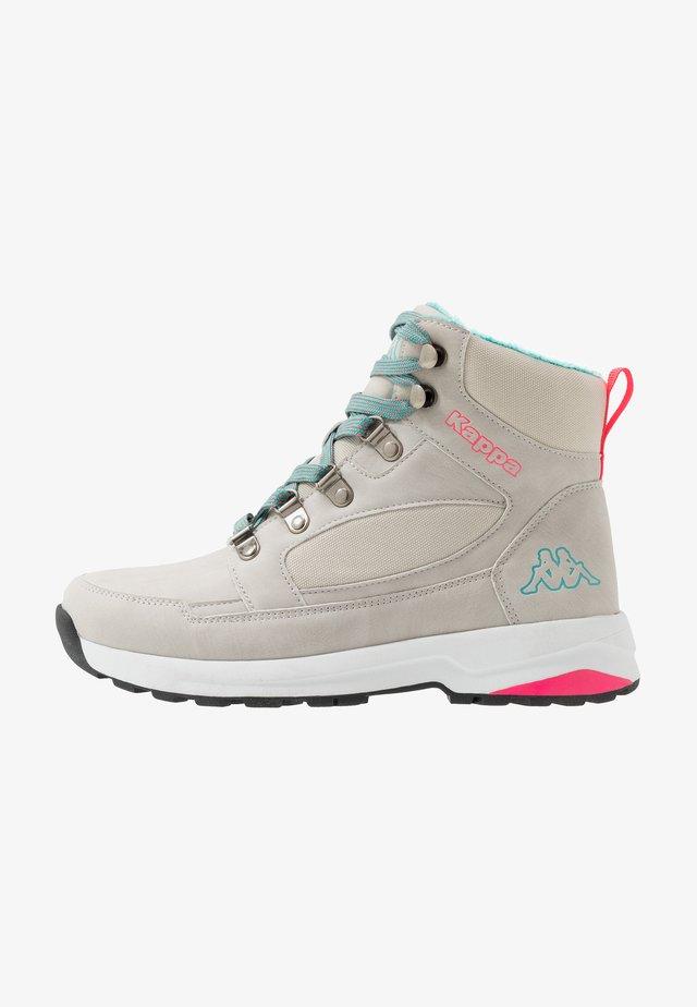 SIGBO - Hiking shoes - light grey/petrol