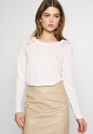 ONLNICOLE - Long sleeved top - cloud dancer
