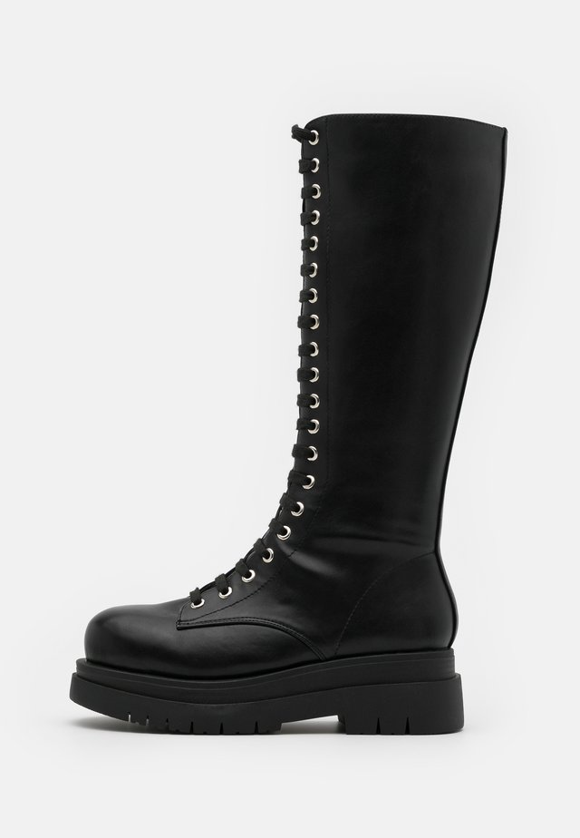 VEGAN  - Platform-saappaat - black