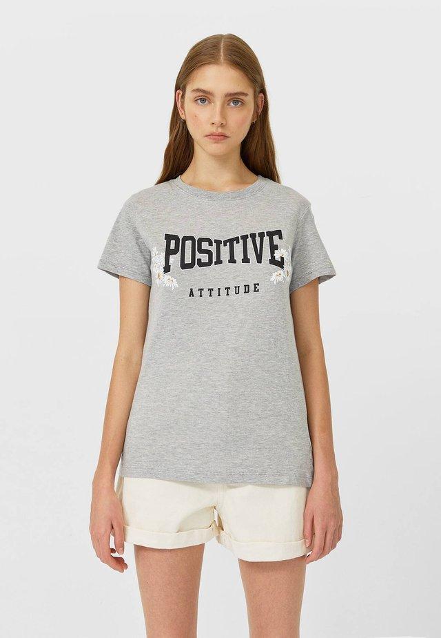 MIT PRINT  - T-shirt imprimé - dark grey