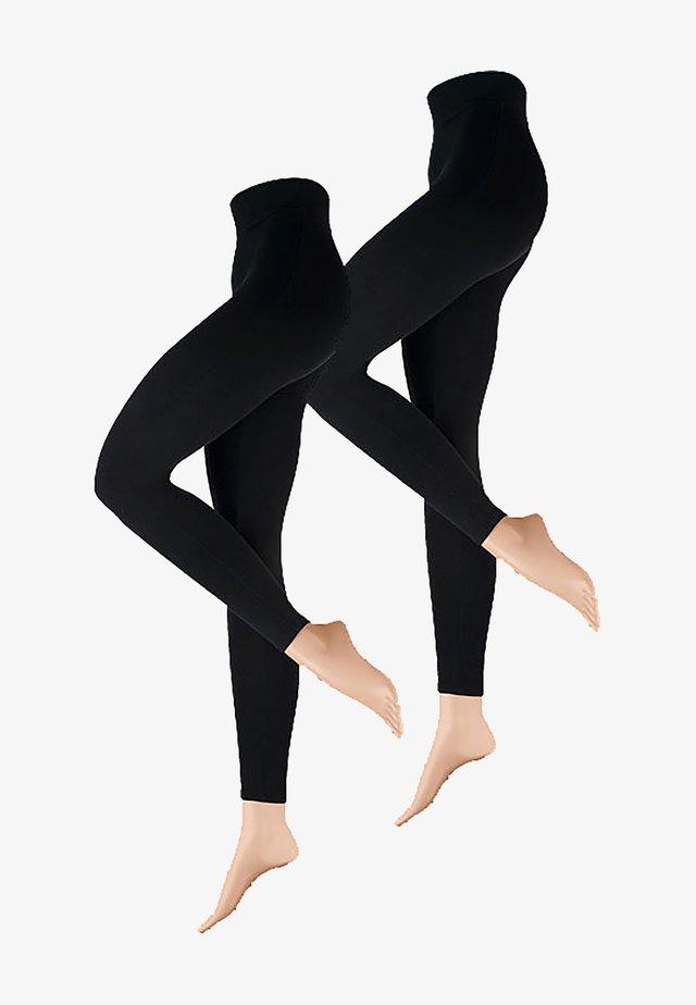 2-PACK - Leggings - schwarz