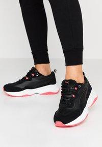 Puma - CILIA - Sneakers - black/calypso coral/silver/white - 0