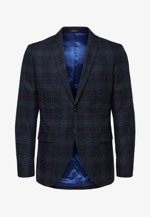 KARIERTER SLIM FIT - Suit jacket - navy blue