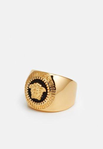 UNISEX - Ring - nero/oro caldo