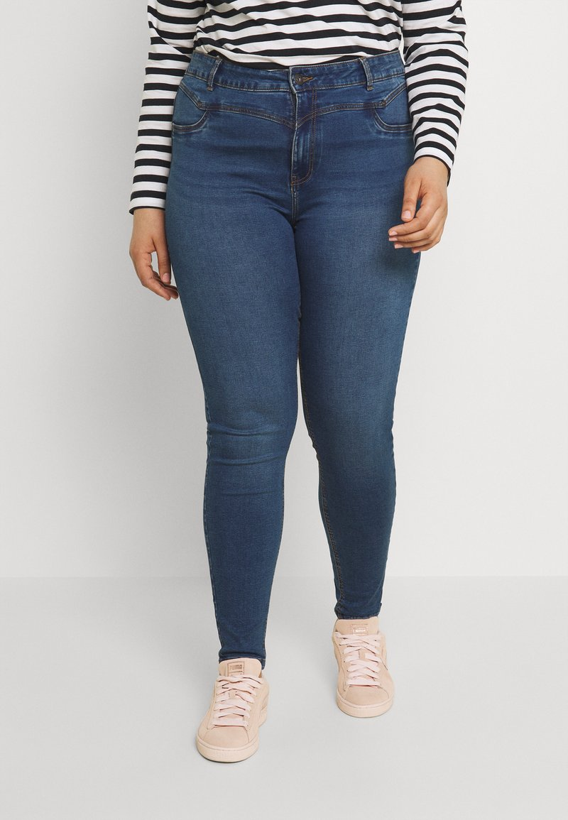 Noisy May Curve - NMCALLIE WESTERN - Jeans Skinny Fit - medium blue denim