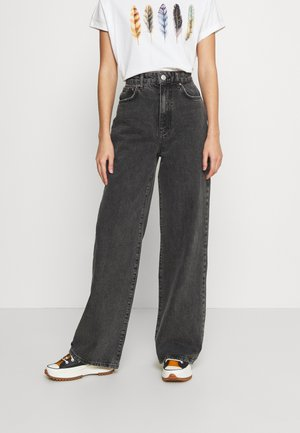 IDUN WIDE - Relaxed fit jeans - black/grey