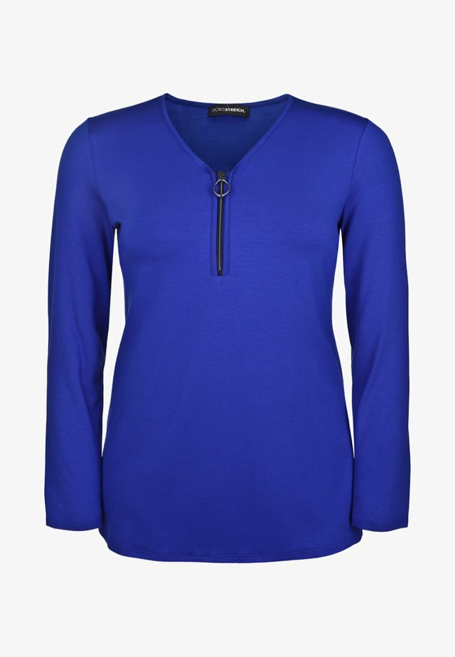 MIT V-AUSSCHNITT - Long sleeved top - blue