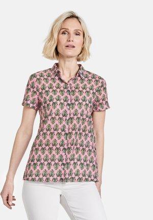 Button-down blouse - lila/pink/grün druck