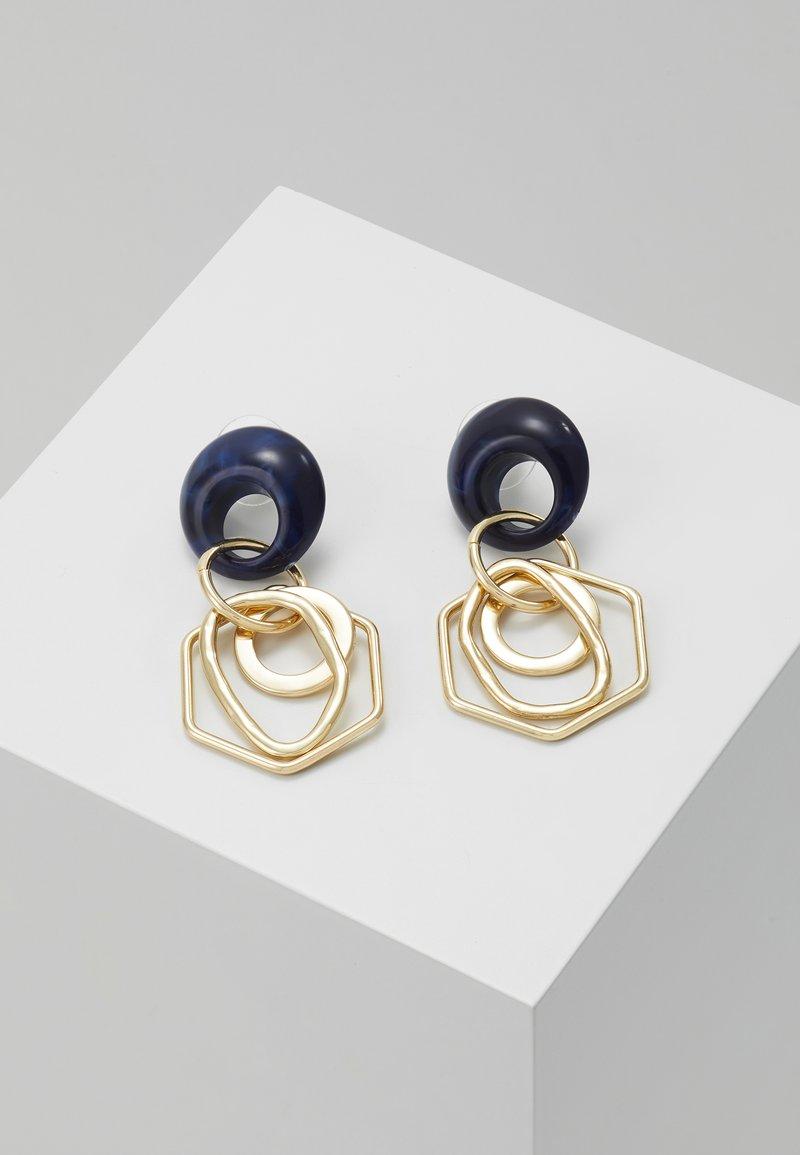 sweet deluxe - Øreringe - gold-coloured/blue