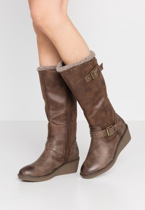 Wedge boots - taupe