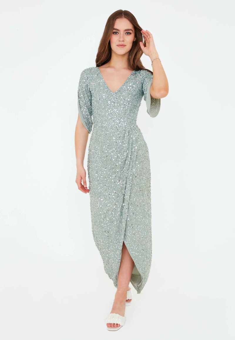 BEAUUT - CLARICE EMBELLISHED SEQUINS  - Occasion wear - sage green
