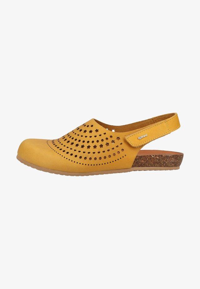 Clogs - gelb