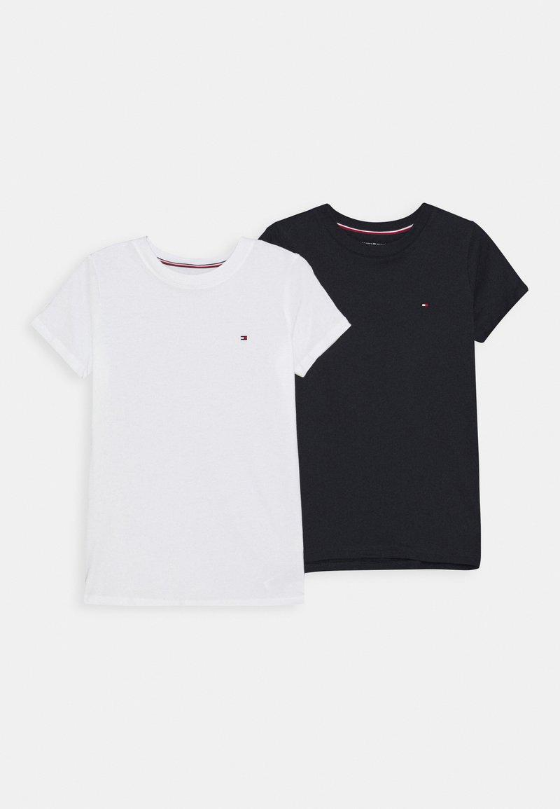 Tommy Hilfiger - TEE 2 PACK  - T-shirt basic - white/desert sky