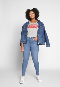 Levi's® Plus - SHPING - Jeansy Skinny Fit - tempo blue - 1