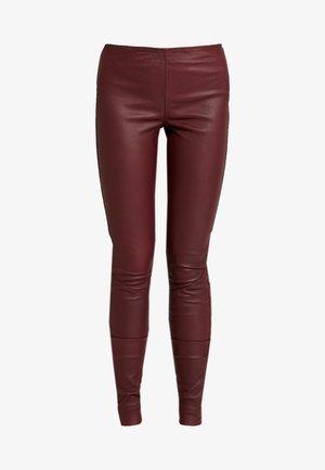 YASZEBA - Leggings - Trousers - burgundy