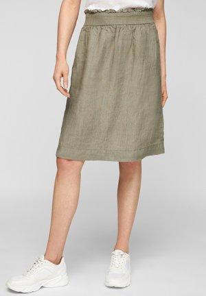 A-line skirt - summer khaki melange