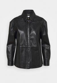 LIU JO - GIACCA CAMICIA - Leather jacket - nero - 8