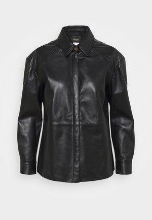 GIACCA CAMICIA - Leather jacket - nero