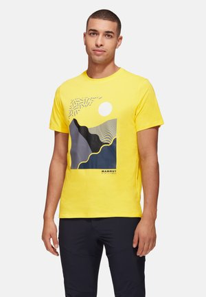 SLOPER - Print T-shirt - yellow, orange