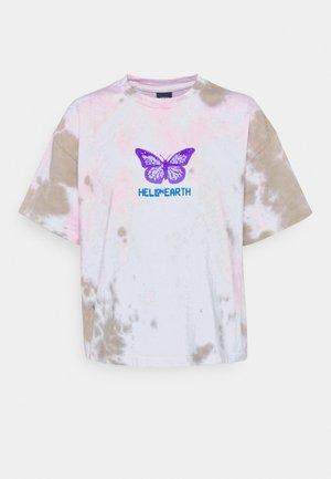 HELL ON EARTH - Print T-shirt - soft tone pink/tan