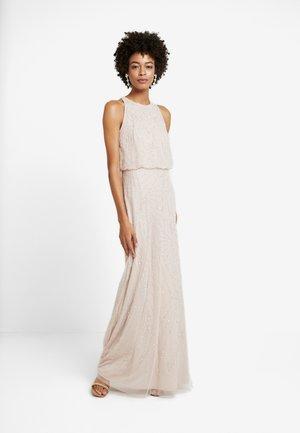 HALTER BEADED DRESS - Occasion wear - shell