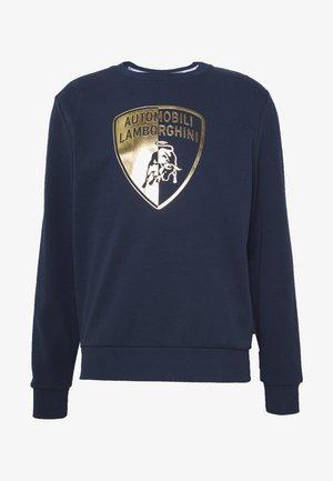 GOLD SHIELD LOGO CREW - Bluzka z długim rękawem - prussian blue