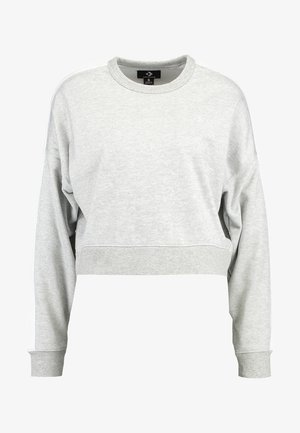 STAR CHERVON TRACK CROPPED CREW  - Sweatshirt - vintage grey heather
