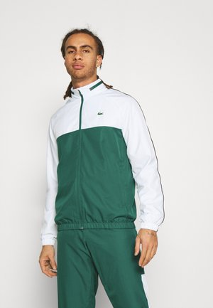 TRACK SUIT - Träningsset - bottle green/white/black